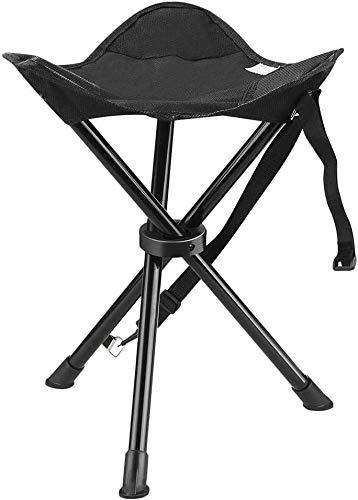 Tabouret trépied portable Chaise pliante avec étui de transport des chaises pliantes extérieur siège chaise portable Tabouret chaises de camping for la plage de pêche des pique-niques à pied randonnée