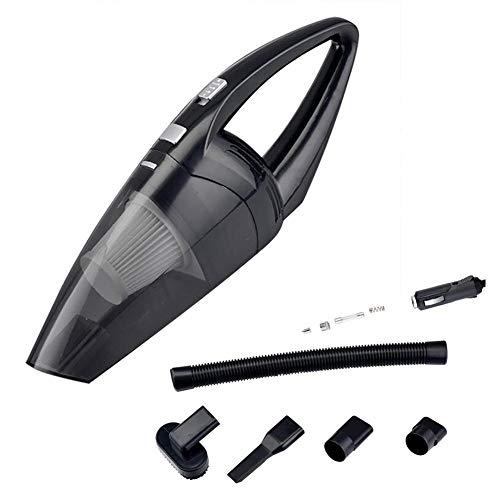 ZQP Auto-Staubsauger Dc 12V 120W 5000Pa Starker Saug-Staubsauger Für Autos Nass- / Trockengebrauch Staubsauger Auto Dust Buster,Black
