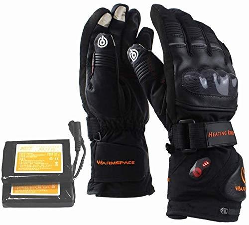 Guantes Calefactores Calentar los guantes Guantes de la pantalla táctil con calefacción y guantes calientes recargable de ion de litio climatizada for los hombres y mujeres por un ciclo de los guantes