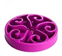 Big Bargain Store ドッグボウルスローフィーダー ドッグボウル ブロートストップ アンチガルプ ペット用品 インタラクティブ purple 30*30*6cm