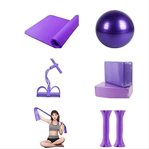 WWJ Equipo de Yoga Equipo de Pelota Estera casa combinación de Equipo de Fitness para Mujeres Equipo para Principiantes Nuevo Conjunto Completo de Suministros