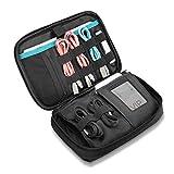 ProCase Reisen Lagerung Organizer Tasche, Tragbare elektronische Zubehör Reise Kabel Organizer Lagerung Tragetasche für Cords SD Karten Ladegerät Festplatte Powerbank Für iPad Mini -Schwarz