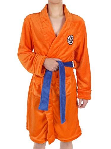 CoolChange Son Goku Bademantel mit GO Schriftzeichen, Größe: S/M