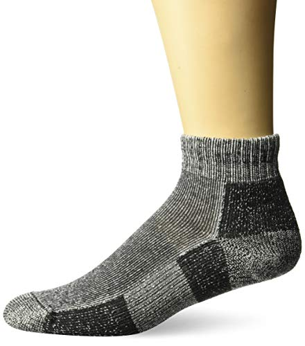 Thorlos Unisex TRMX Trail Running Thick Padded Ankle Sock, Charcoal, XLarge