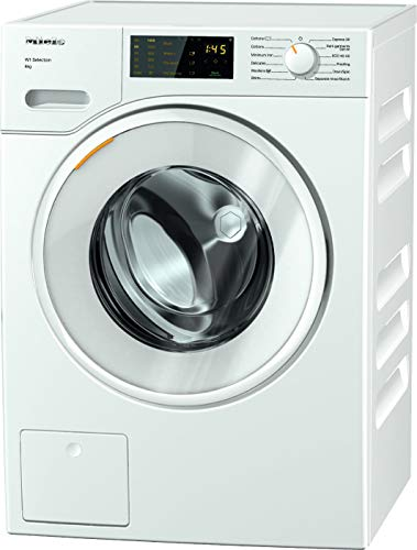 Miele WSD123 Freestanding Washing Machine, 8Kg, Lotus White