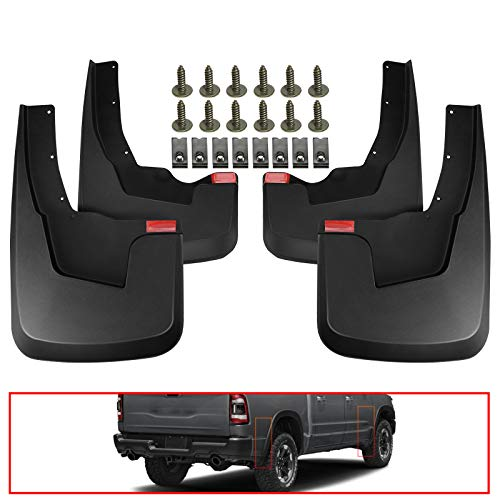 A-Premium Mud Flaps Splash Guards Compatible with Ram 1500 2019-2021 Front and Rear with Fender Flares 4-PC Set