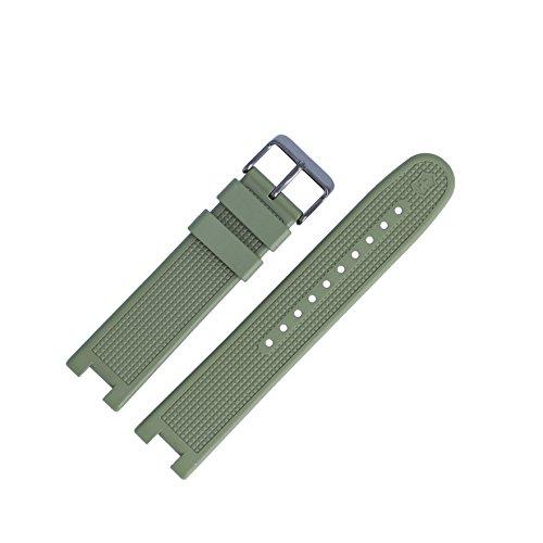 Victorinox Uhrenarmband 21mm Kunststoff Gruen - Uhrband Set 004759
