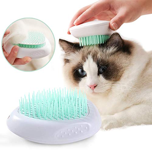 Kingtree Cat Brush for Shedding and Grooming, Easy Release Self Cleaning Pet Brush for Long and Short Haired Cats Small Dogs, Pets Shedding Comb for Gently Removing Loose Hairs