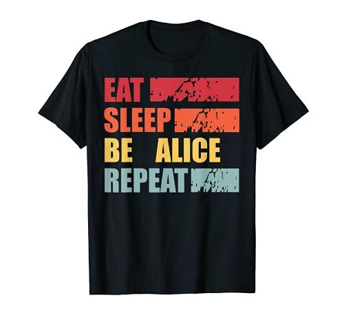 ALICE ALICE - Camisa con nombre personalizado Camiseta