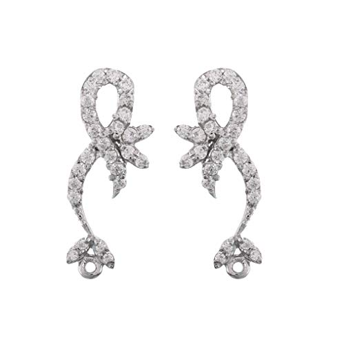 925 Streling Silver Stud Earrings in cubic zirconia