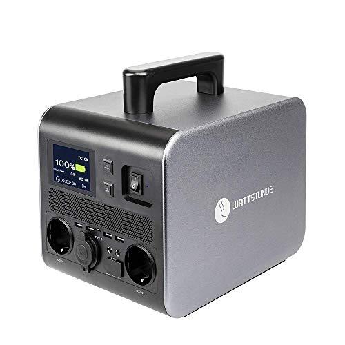WATTSTUNDE WS500PD PowerDude Powerstation - Mobiler Lithium Akku, Wechselrichter und Solar Laderegler in einem 500W / 540Wh