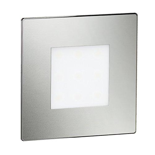 ledscom.de LED Treppen-Licht FEX Wand-Einbauleuchte, eckig, 8,5x8,5cm, 230V, kaltweiß