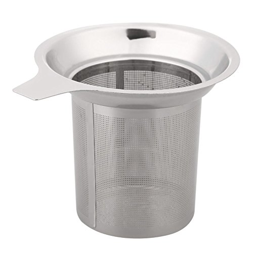1pièce séparateur de feuilles de thé en acier inoxydable 304 Entonnoir à thé Infuseur à thé filtre en maille métallique