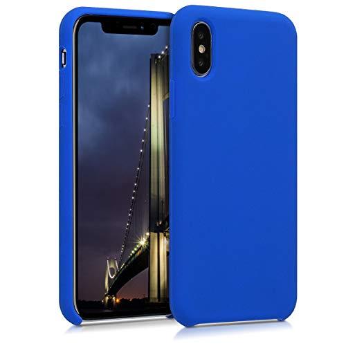 kwmobile Cover Compatibile con Apple iPhone X - Custodia in Silicone TPU - Back Case Protezione Cellulare Blu Elettrico