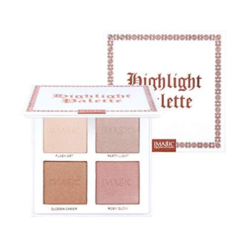 Lurrose La palette de poudre de surligneur éclaircit le bronzage pour les femmes lady filles maquillage 1pc 4 couleurs