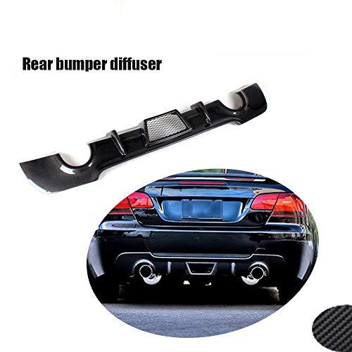 JTAccord Hochwertiger Real Carbon Fiber Auto Hecklippe Heckstoßstange Diffusor Spoiler Stoßstangenschutz für BMW E92 325i M Sport 2008-2011, Autozubehör