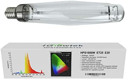 iGrowtek 1000W HPS Grow Light Bulb High PAR and Orange Spectrums CCT 2000K Ultra Bright 140000 product image