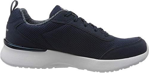 Skechers Damen Skech-air Dynamight-Fast Brak Sneaker, Blau (Navy Mesh/White Trim NVY), 39 EU