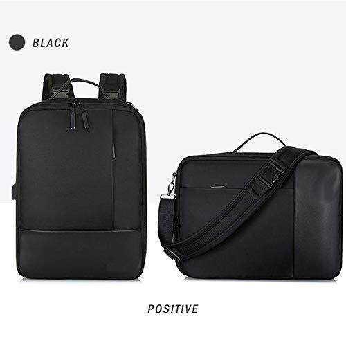 Panda Laptop USB Rucksack Schultasche Anti Theft Travel Daypacks Freizeit Rucksack,Black