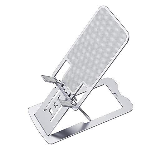Fransande - Soporte de teléfono plegable para tableta y soporte de escritorio ajustable de aluminio para iPhone 12 Teclast P20HD Iplay20