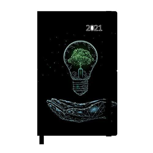 Idena 10894 - Agenda 2021, 90x140 mm, aus FSC-Mix, Energie, 1 Stück