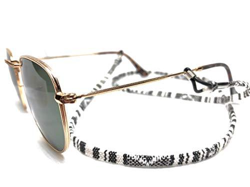 Fashtival   Brillenkoord Zebra   Zonnebrilkoord Zwart Wit   Geweven stof   Zonnebril touwtje