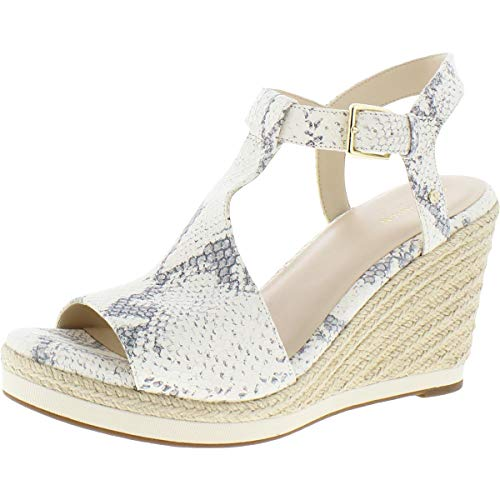 Cole Haan Cloudfeel Espadrille Wedge (90 mm) Natural Chalk Python Print Leather Natural Jute Wrap 11 B (M)