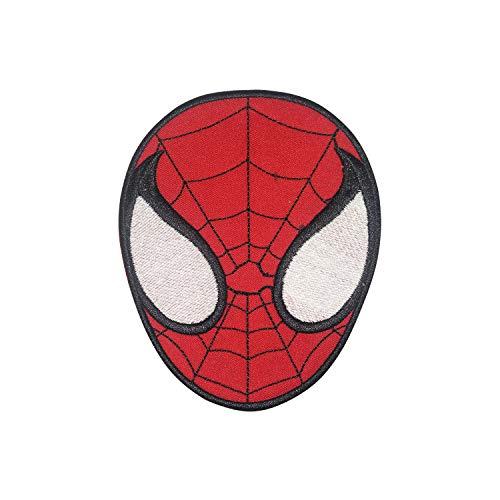 Écusson Spiderman en forme de visage à repasser ou à coudre