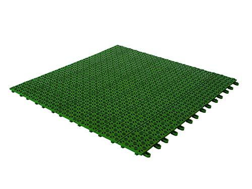 Multiplate 9 Piastrelle Flessibili in Plastica resistente 55.5 x 55.5 cm, Verde ca 2.73 metri quadri