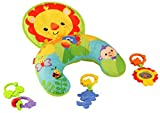 Fisher-Price Y6593 - Spielkissen Baby Spielzeug mit abnehmbaren Beißringen, Babyausstattung ab der Geburt