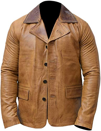 Men's Arthur Morgan Retro Red Dead 2 Genuine Leather Jacket Coat (3x_l)