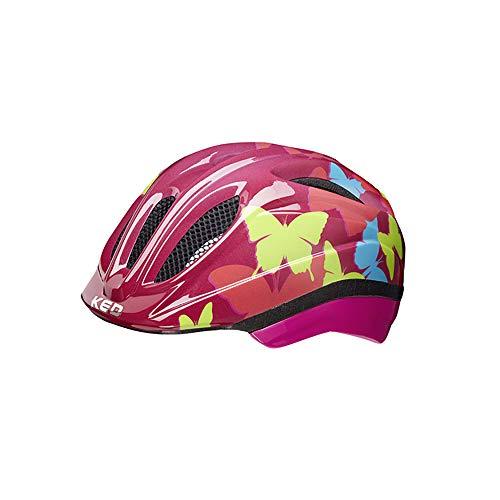 KED Meggy II Trend Helm Kinder Butterly/Bordeaux Kopfumfang M | 52-58cm 2021 Fahrradhelm