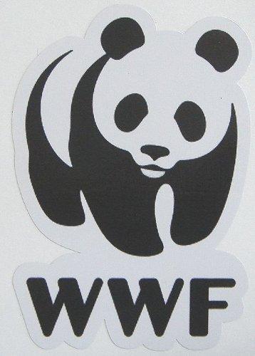 Aufkleber World Wildlife Fund WWF Panda wasserdichte Papiersiegel (Japan-Import)