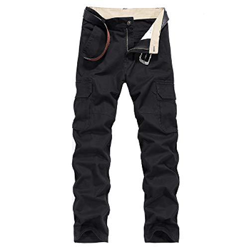 Katenyl Pantalones de Trabajo de Combate de Pierna Recta relajados para Hombre Pantalones de Trabajo tácticos Militares de Gran tamaño con Costuras Multibolsillos para Acampar 34
