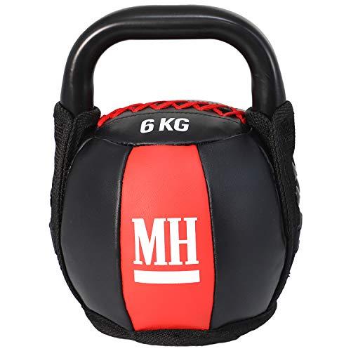 Men's Health Power Soft Kettlebell, 1 STK. Kugelhantel mit hochwertigen Stoffüberzug, Crossfit, Functional Training, Muskelaufbau, 6-12 kg (6.00)