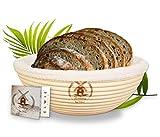 ELWIE® - Cuenco para masas de pan cesta de fermentación para pan, banneton, cesta de pruebas, cuenco redondo