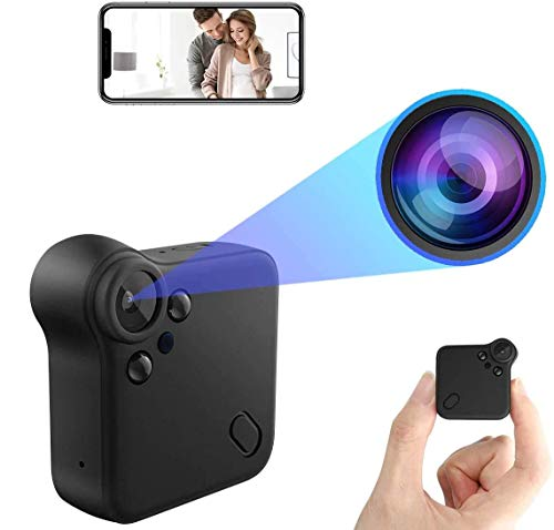 Mini Hidden Camera WiFi Spy Camera Full HD 1080P Home Live Stream Wireless Nanny Cams with Audio and Video Recording, Cell Phone App, Night Vision, Motion Detection Micro Surveillance Camera