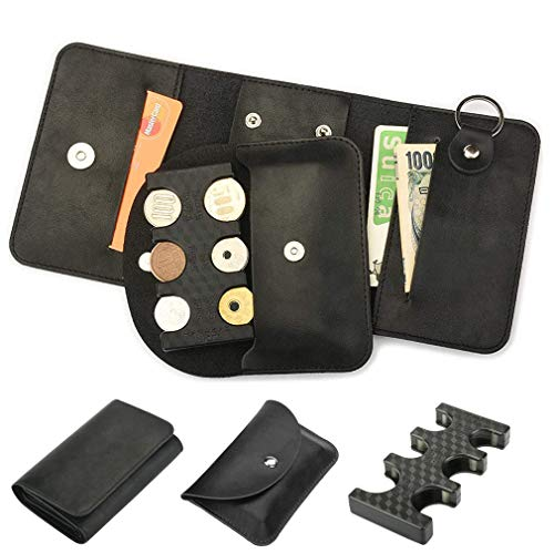 ANZOBEN コインホルダー 携帯 専用ケース 軽量 携帯便利 2775円収納でき コイン分類 小銭財布 片手で取り出せ ブラック