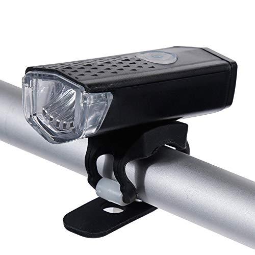 Fahrradbeleuchtung Wiederaufladbare Fahrradlampe 300 Lumen 3 Modi Scheinwerfer Fahrrad 6000K Fahrradlampe Dynamolicht Frontscheinwerfer Schwarz