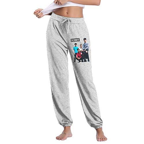 Dobre Brothers Womans Sweatpants Pants Casual Jogger Sweatpants Pant Elastic Waist L Gray