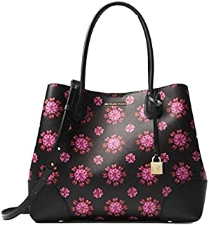 Michael Kors Mercer Corner Large Center Zip Floral Tote Bag. Multi Color