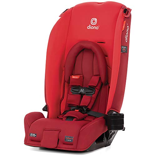 Diono Radian 3RX 3-in-1 Rear and Forward Facing Convertible Car Seat, Head Support Infant Insert, 10 Years 1 Car Seat Ultimate Safety and Protection, Slim Design - Fits 3 Across, Red Cherry