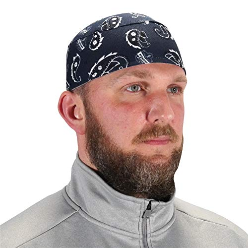 Ergodyne - 12509 Chill Its 6630 Skull Cap, Lined with Terry Cloth Sweatband, Sweat Wicking, Navy Western