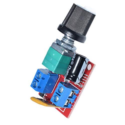 Abcidubxc Motor Controller,Drehzahlregler des Gleichstrommotors,3V-35V Geschwindigkeit,Steuerschalter, LED-Dimmer