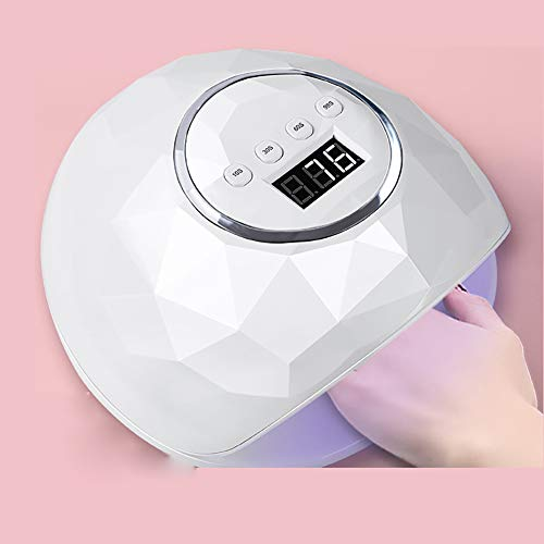 Intelligente Inductie 86W Vierstaps Timing Nagellak Baklamp, LED/UV Dubbele Lichtbron Gel Fototherapie Machine, Draagbare Nagellak Nagelverzorging Machine,Pink