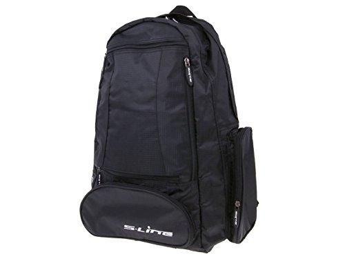 Preisvergleich Produktbild Rucksack mit Helmhalterung f. Roller Motorrad S-Line schwarz
