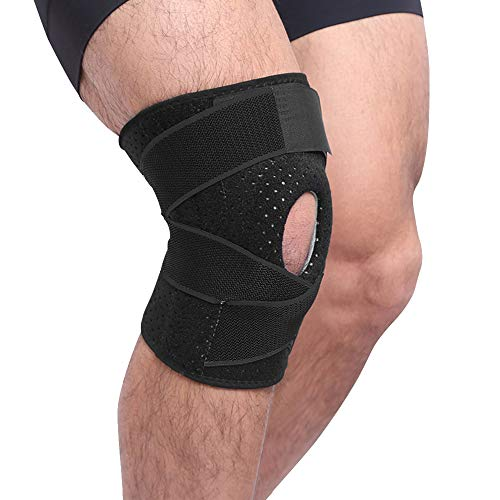 FunCee Knee Brace with Metal Side Stabilizers and Gel Patella Pads, Adjustable Compression Wrap for Men & Women, Knee Support for ACL, Patellar Tendon, Arthritis pain, Meniscus tear Gym Running Hiking