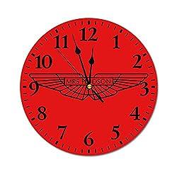 Sherlock Holmes Mrs Hudson Aston Martin Black Wall Clock,Digital Wall Clock, Printed Wall Clocks, Wall Clocks Battery Operated, Wall Clocks for bedrooms, Wall Clocks for Living Room