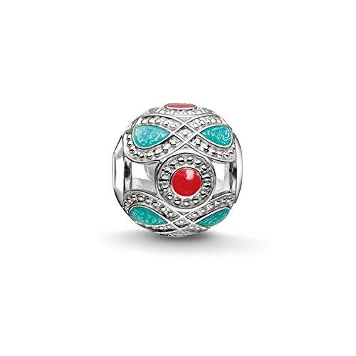 Thomas Sabo Damen-Bead Ethno Karma Beads 925 Sterling Silber rot türkis K0210-664-7