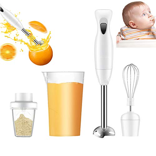 HBIAO Baby Cuocipappa, Food Collection Frullatore a Immersione, 200 W - Bianco